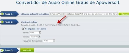 extraer audio de vídeo online
